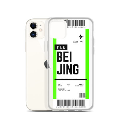 Beijing Boarding Pass iPhone Case