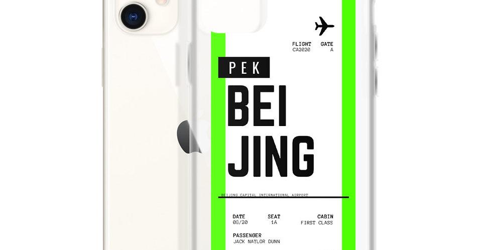 Beijing Boarding Pass iPhone Case