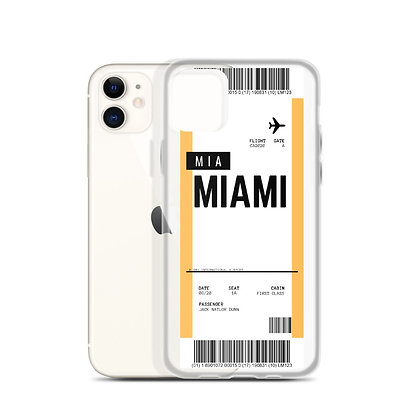 Miami Boarding Pass iPhone Case