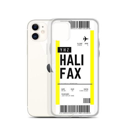 Halifax Boarding Pass iPhone Case