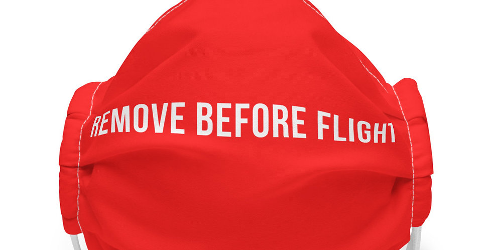 REMOVE BEFORE FLIGHT Face mask