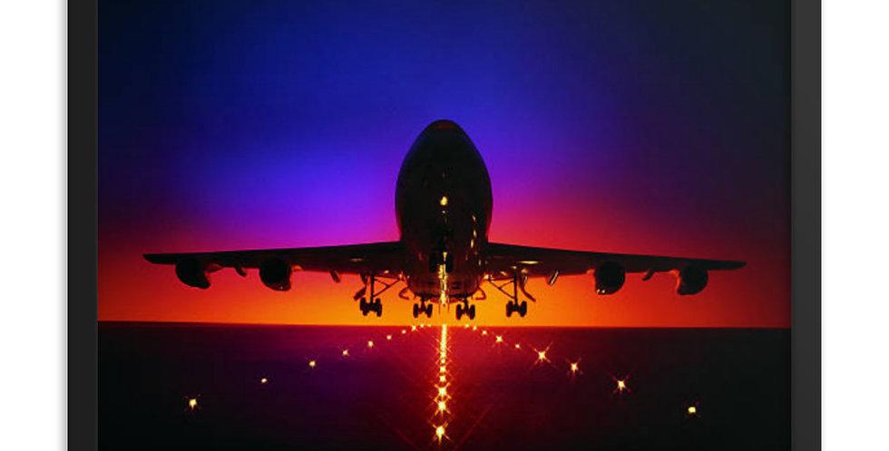 Departing 747 Framed poster