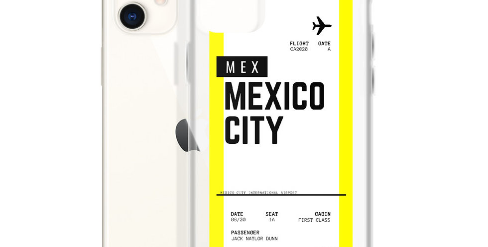 Mexico City Boarding Pass iPhone Case