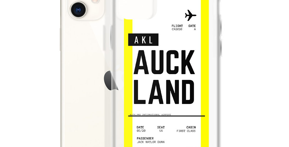 Auckland Boarding Pass iPhone Case