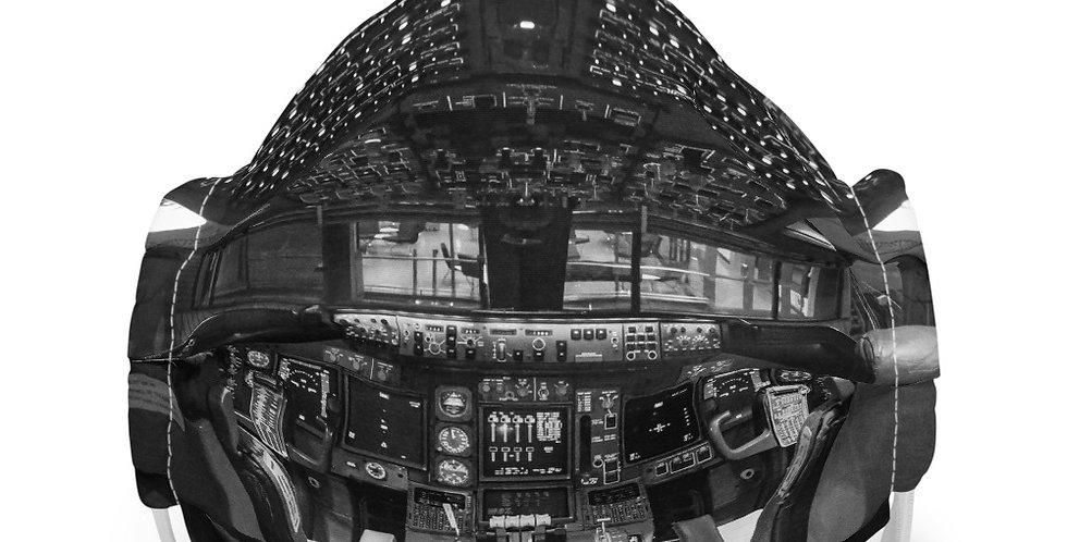 Cockpit #5 (Black And White) Face mask