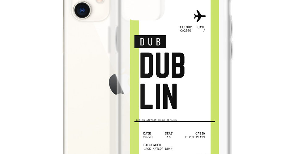 Dublin Boarding Pass iPhone Case