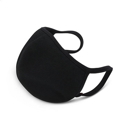 Plain Black Face Mask (3-Pack)