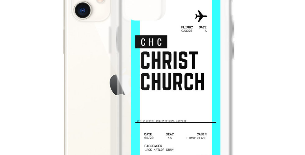 Christchurch Boarding Pass iPhone Case