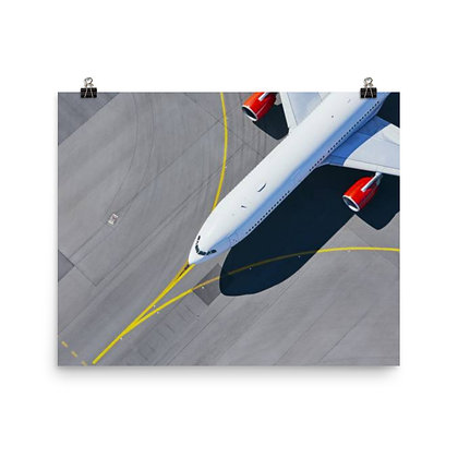 Taxiing Aircraft From Above Poster