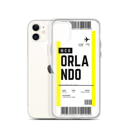 Orlando Boarding Pass iPhone Case