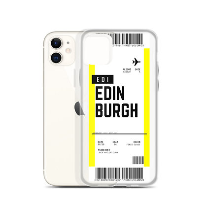 Edinburgh Boarding Pass iPhone Case