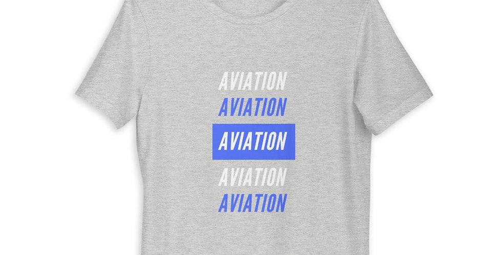 Blue Aviation Short-Sleeve Unisex T-Shirt