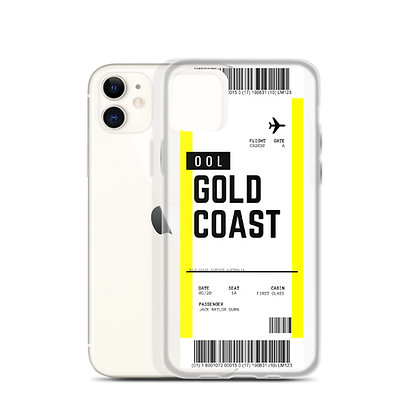 Gold Coast Boarding Pass iPhone Case