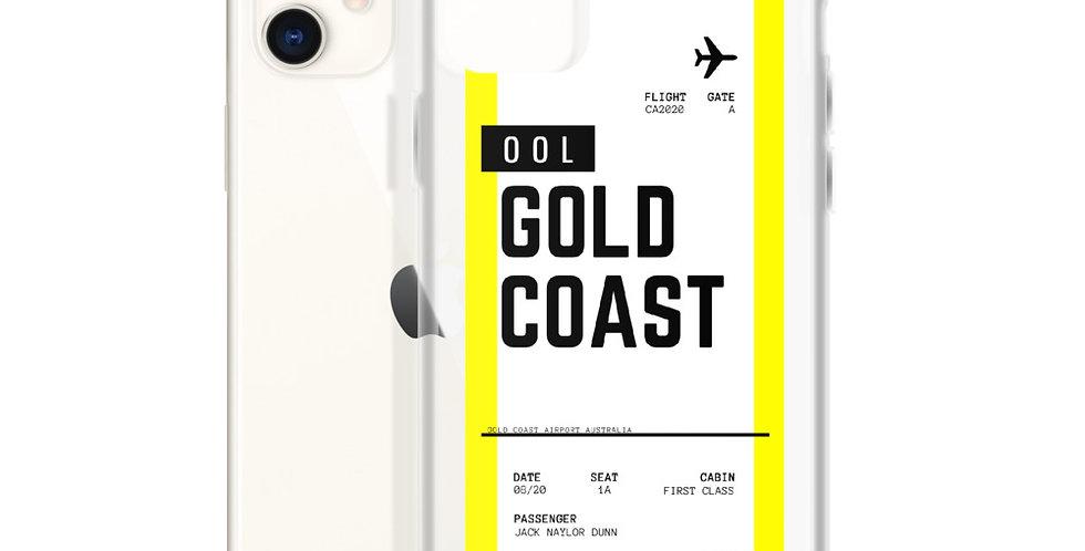 Gold Coast Boarding Pass iPhone Case