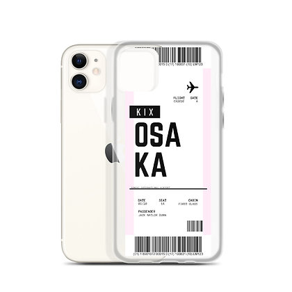 Osaka Boarding Pass iPhone Case