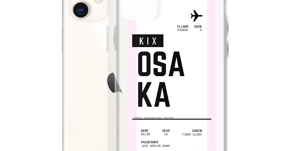 Osaka Boarding Pass iPhone Case