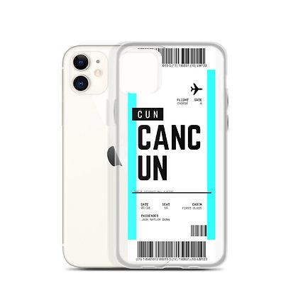 Cancun Boarding Pass iPhone Case