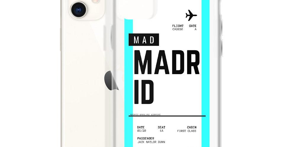 Madrid Boarding Pass iPhone Case