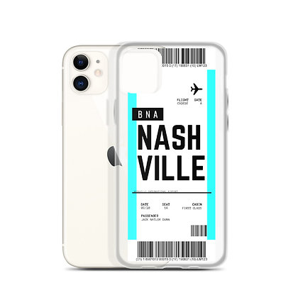 Nashville Boarding Pass iPhone Case