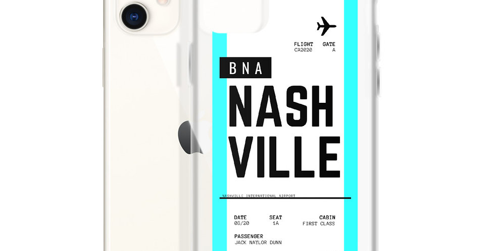 Nashville Boarding Pass iPhone Case