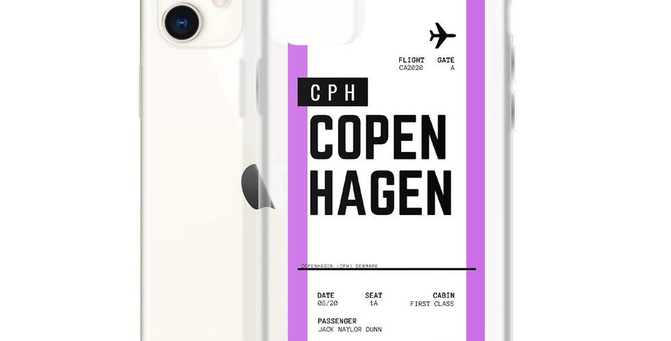 Copenhagen Boarding Pass iPhone Case