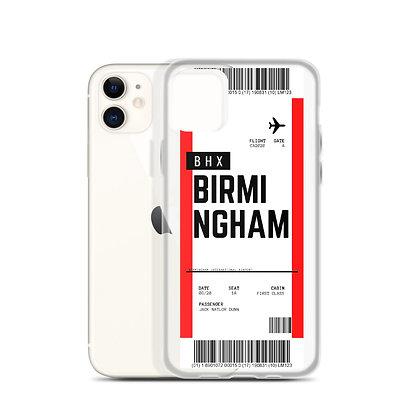 Birmingham Boarding Pass iPhone Case