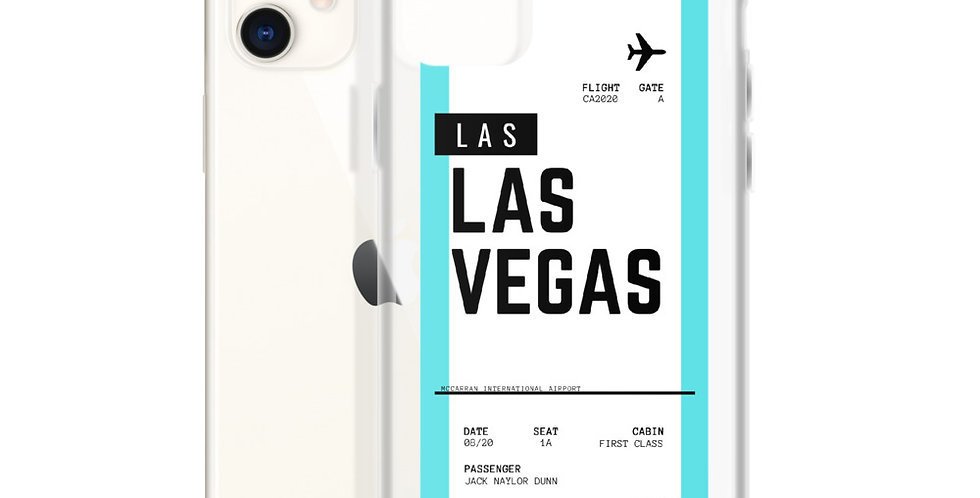 Las Vegas Boarding Pass iPhone Case