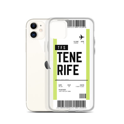 Tenerife Boarding Pass iPhone Case