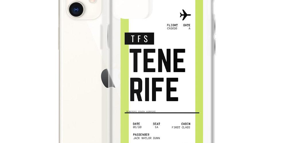 Tenerife Boarding Pass iPhone Case