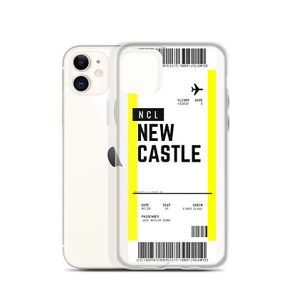Newcastle Boarding Pass iPhone Case