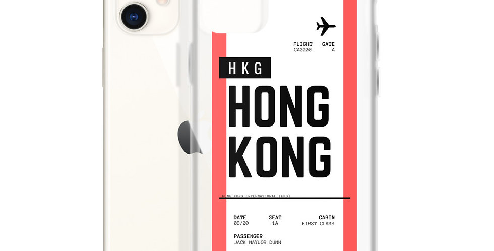Hong Kong Boarding Pass iPhone Case