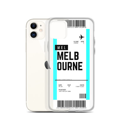 Melbourne Boarding Pass iPhone Case