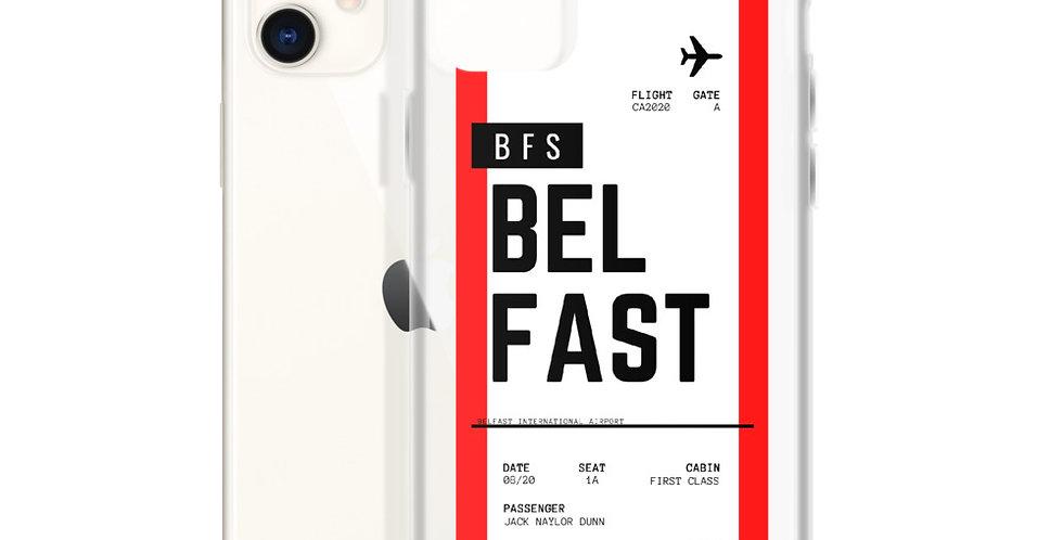 Belfast Boarding Pass iPhone Case