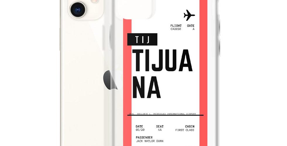 Tijuana Boarding Pass iPhone Case