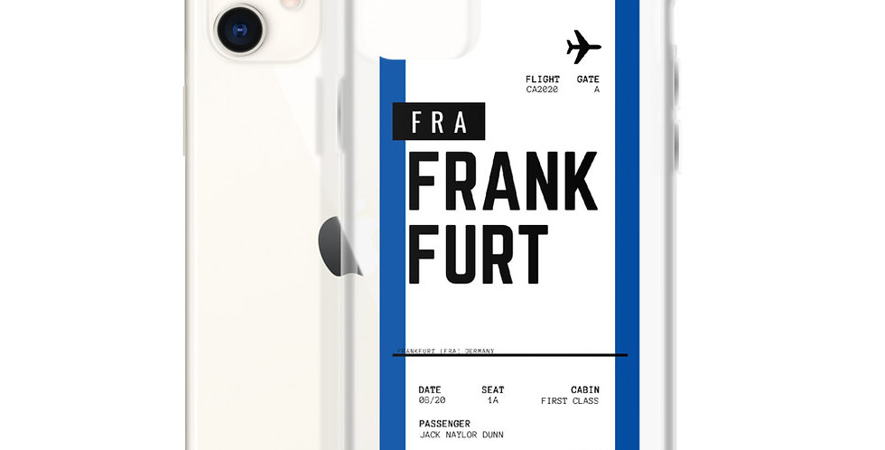 Frankfurt Boarding Pass iPhone Case