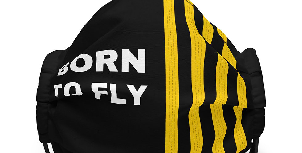 BORN TO FLY Epaulettes Face mask