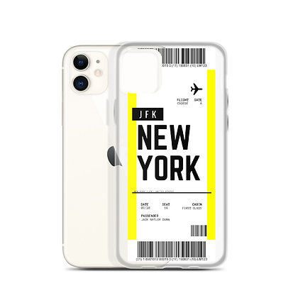New York JFK Boarding Pass iPhone Case