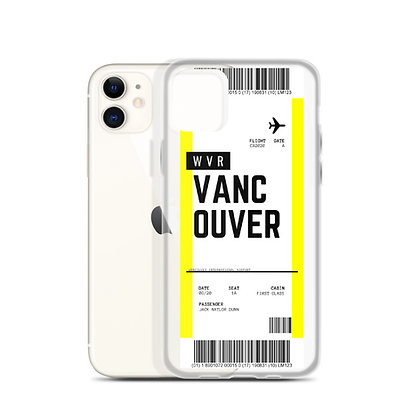 Vancouver Boarding Pass iPhone Case