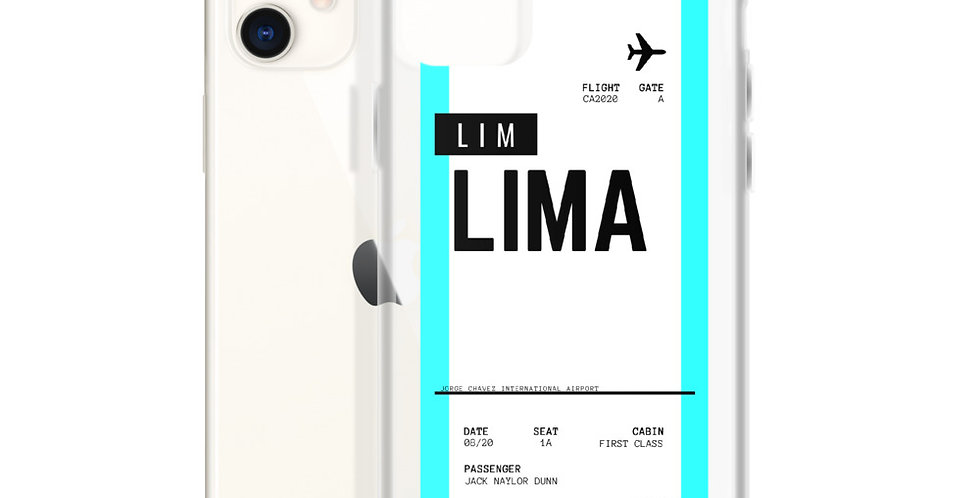 Lima Boarding Pass iPhone Case
