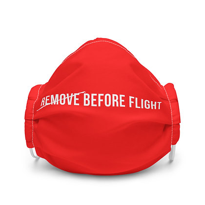 [REMOVE] BEFORE FLIGHT Face mask