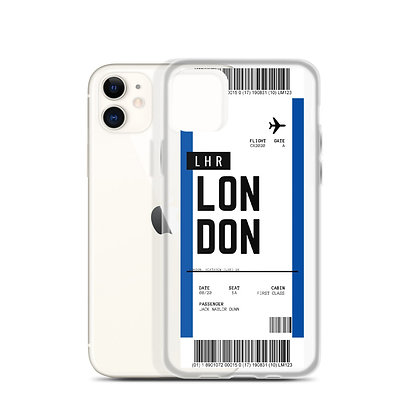 London Heathrow Boarding Pass iPhone Case