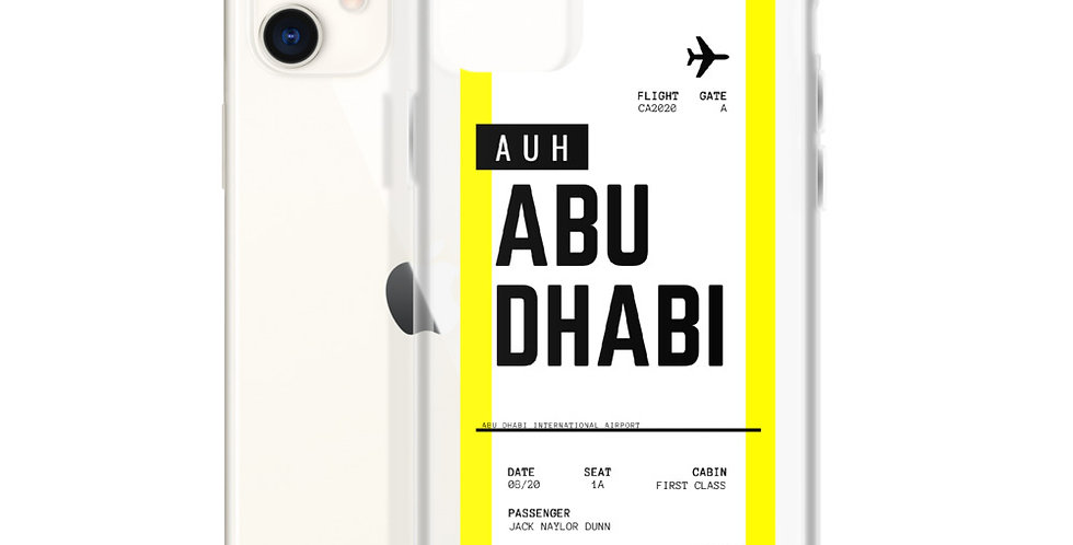 Abu Dhabi Boarding Pass iPhone Case
