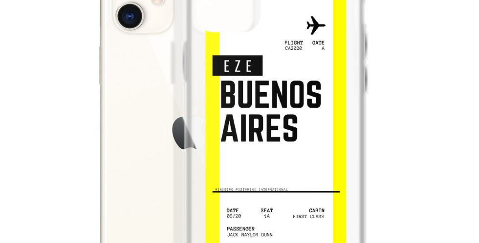 Buenos Aires Boarding Pass iPhone Case