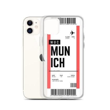 Munich Boarding Pass iPhone Case