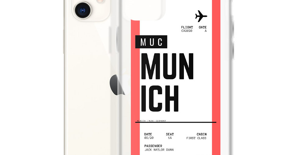 Munich Boarding Pass iPhone Case