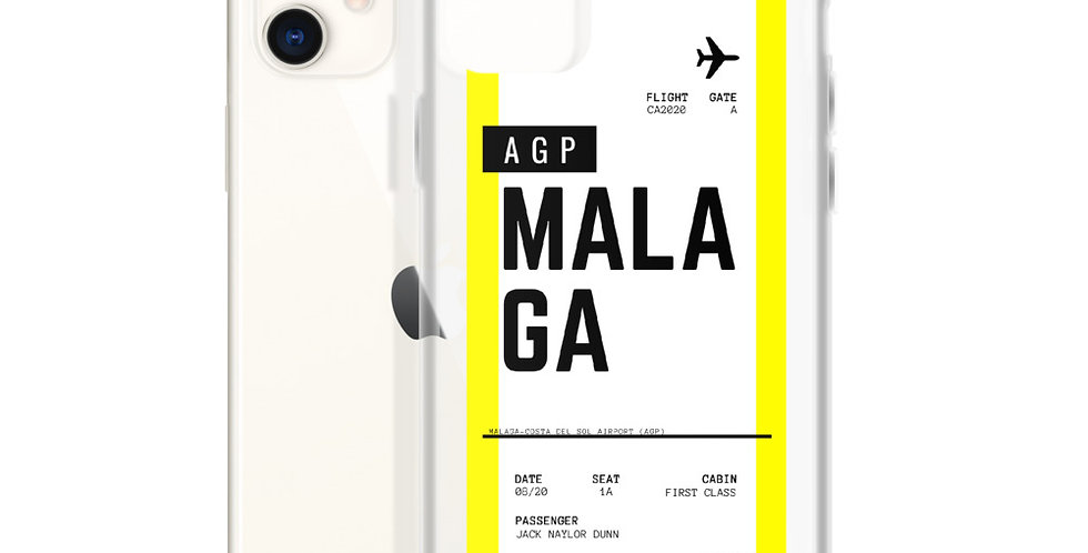 Malaga Boarding Pass iPhone Case