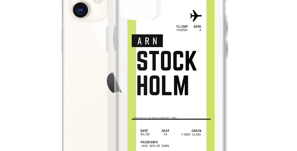 Stockholm Boarding Pass iPhone Case