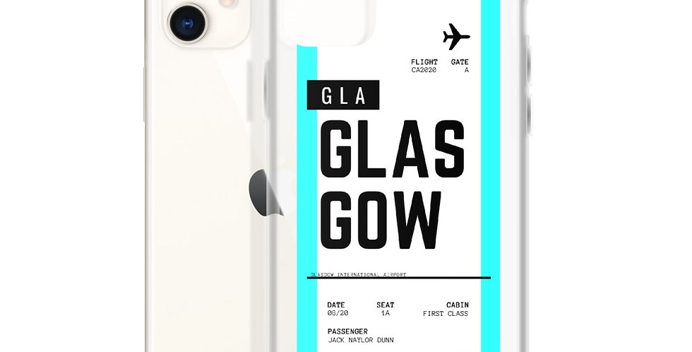 Glasgow Boarding Pass iPhone Case