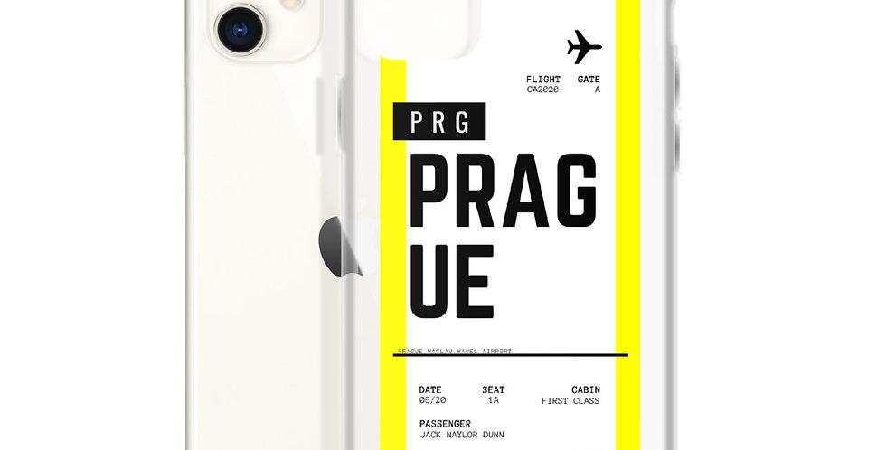 Prague Boarding Pass iPhone Case