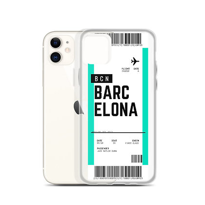 Barcelona Boarding Pass iPhone Case
